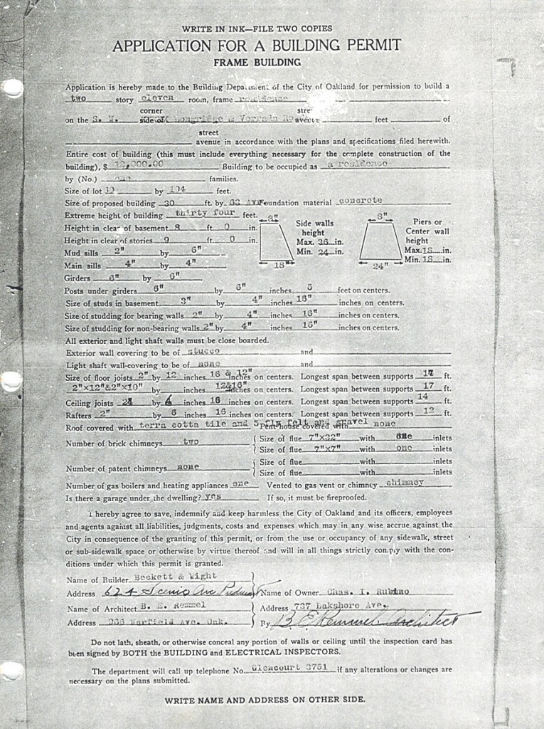 Application for the permit to build the house PAGE 1