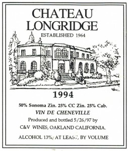 Chateau Longridge Wine Label